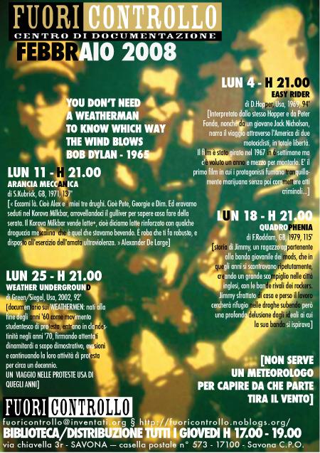 Fuoricontrollo Savona - programma Febbraio 2008