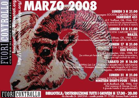 Fuoricontrollo Savona - Programma Marzo 2008