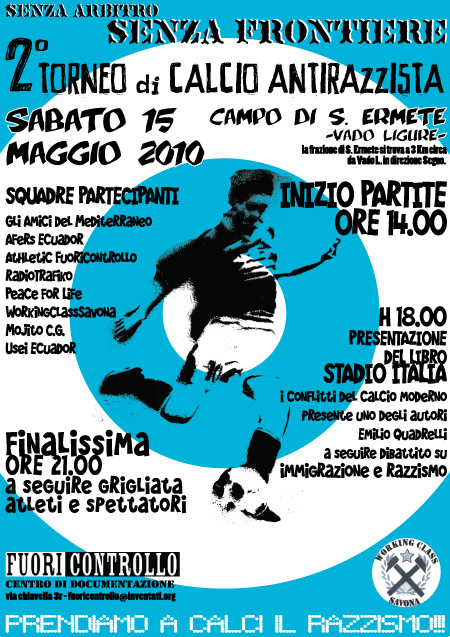 secondo  torneo  di   calcio  antirazzista 4 - fanzine